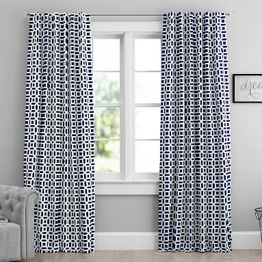 Peyton Blackout Curtain Teen Curtains Pottery Barn Teen