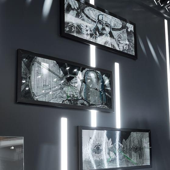 Star Wars Framed Story Board Art Darth Vader S