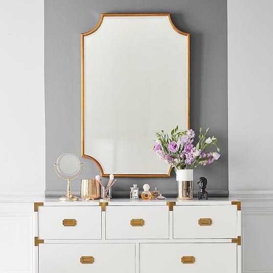 Scallop Gold Leaf Decorative Mirror