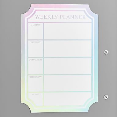 Iridescent Dry Erase Calendar Locker Decal Locker