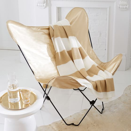 The Emily Amp Meritt Gold Butterfly Chair Lounge Chair