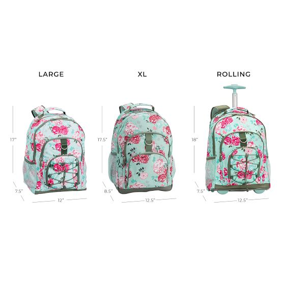 Pool Garden Party Floral Rolling Backpack For Teens