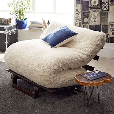 Sherpa Faux Fur Futon Sofa Teen Sofa Pottery Barn Teen
