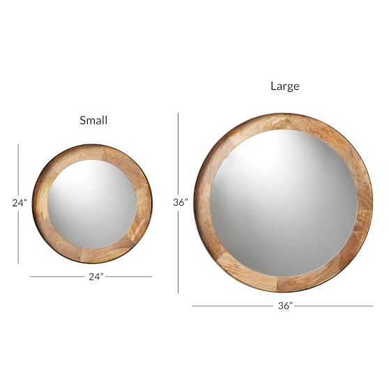 Round Wood And Metal Wall Mirror Pottery Barn Teen