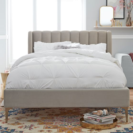 Avalon Channel Stitch Upholstered Bed | Teen Bed | Pottery ...
