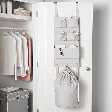 Over The Door Organizer With Laundry Hamper Pottery Barn