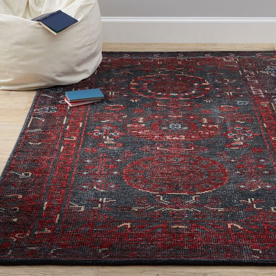 Parker Traditional Wool Rug Pottery Barn Teen