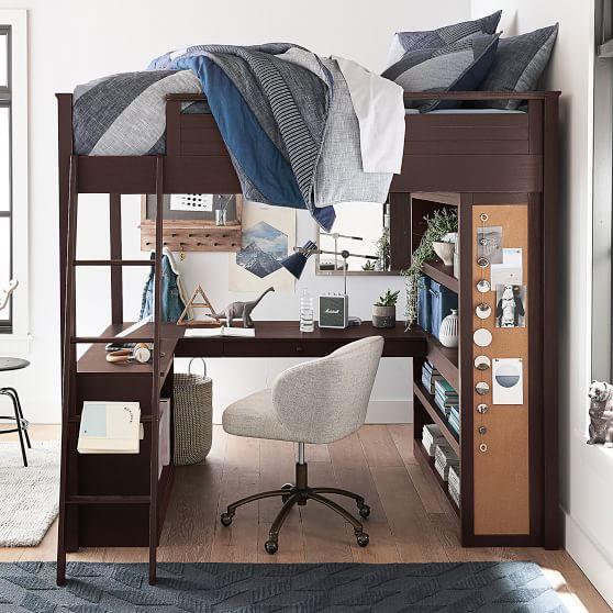 Sleep Study Loft Bed Pottery Barn Teen