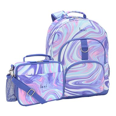 Gear Up Pink Purple Marble Recycled Backpack Amp Cold Pack