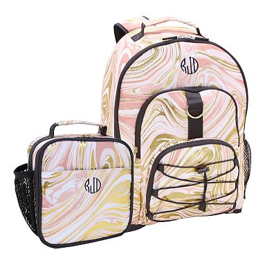 Gear Up Marble Blush Gold Recycled Backpack Amp Classic