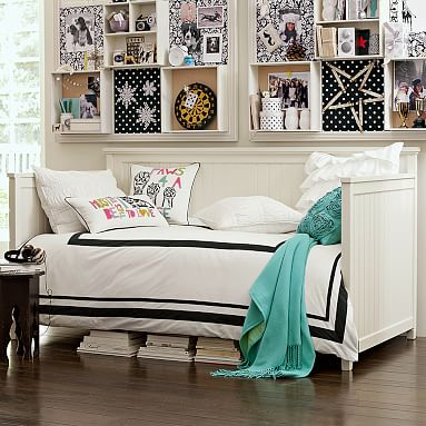 Beadboard Daybed Trundle Teen Bed Pottery Barn Teen