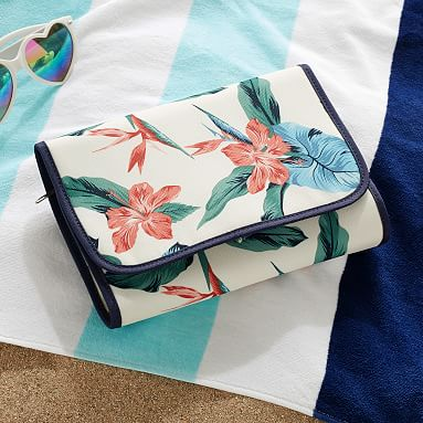 Roxy Sun Soaked Floral Recycled Toiletry Bag Pottery
