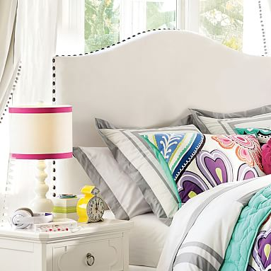 Raleigh Camelback Upholstered Teen Headboard Pottery