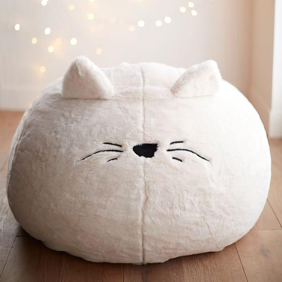 Cat Faux Fur Bean Bag Chair Pottery Barn Teen
