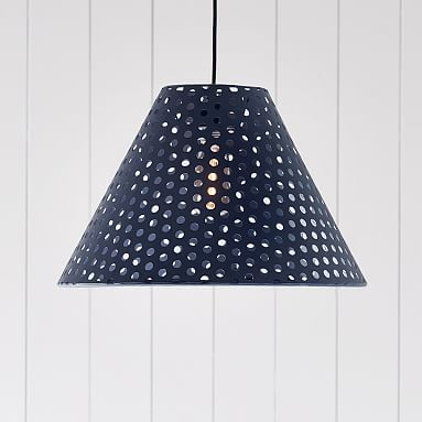 Perforated Cone Pendant Sale Pottery Barn Teen