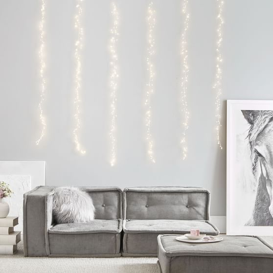 Waterfall String Lights For Bedroom Pottery Barn Teen