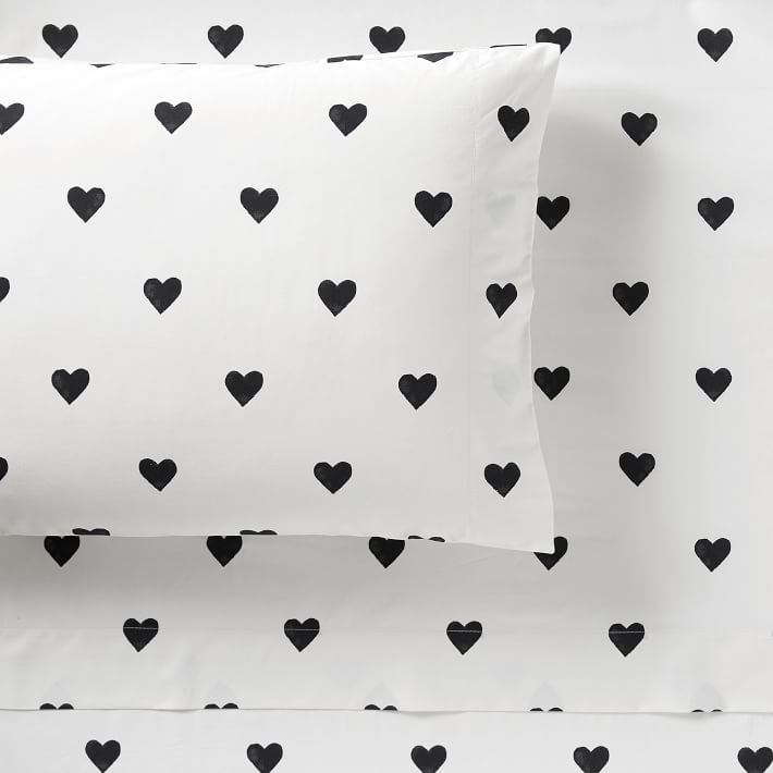 The Emily Meritt Heart Teen Sheet Set Pottery Barn Teen