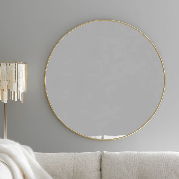 """Shop Metal Framed 38"""" Round Mirror from Pottery Barn Teen on Openhaus"""