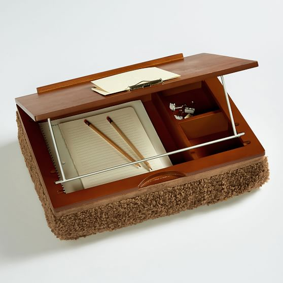 Faux-Fur Adjustable Superstorage Lapdesk