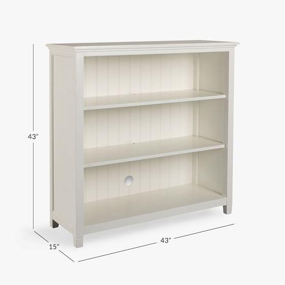 Beadboard Wide Bookcase | Pottery Barn Teen