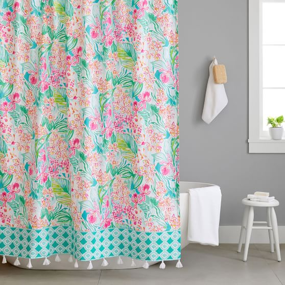Lilly Pulitzer Orchid Shower Curtain Pottery Barn Teen