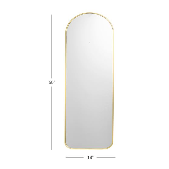 Metal Framed Full Length Decorative, Full Length Mirror Black Trim
