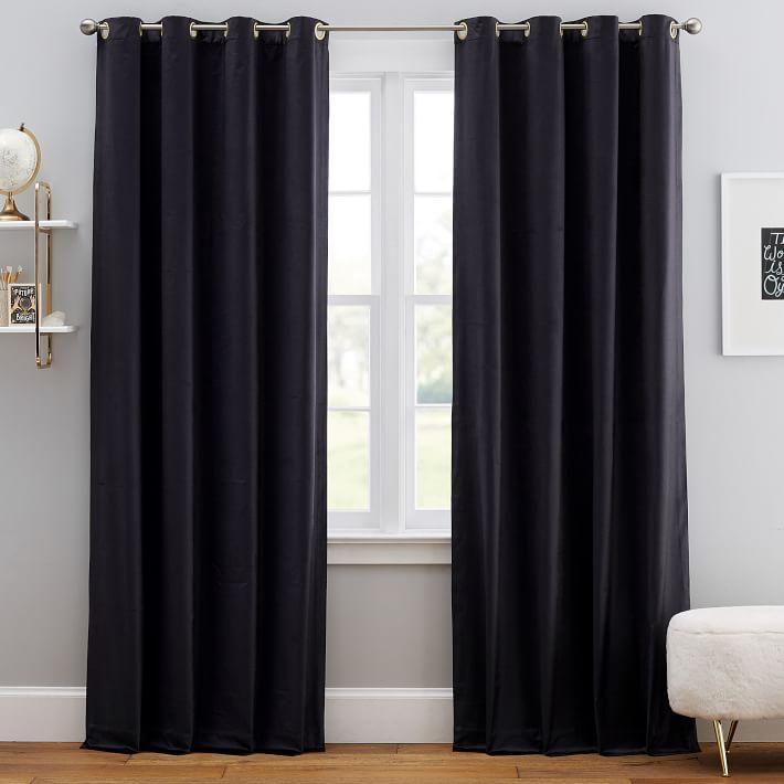 Shimmer Velvet Grommet Blackout Curtain, Shimmer Grommet Curtain Panels