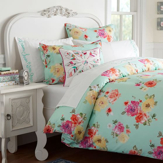 Junk Gypsy Country Blooms Girls Duvet Cover Pool Pottery Barn Teen