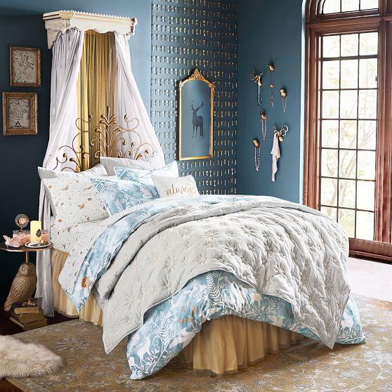 Navy Harry Potter Velvet Girls Quilt, Harry Potter Bedding Comforter