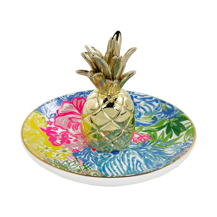 Lilly Pulitzer Ring Holder Pineapple Heritage