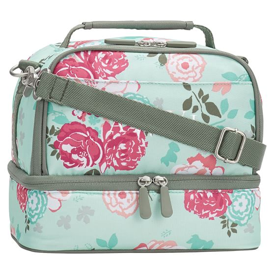 Dual Compartment Floral tote,