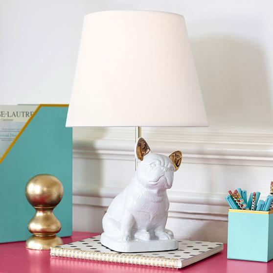 French Bulldog Table Lamp Teen, French Bulldog Lamp