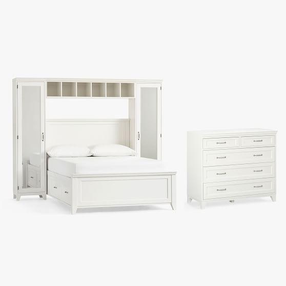 Hampton Storage Bed With Bedroom Vanity 5 Drawer Dresser Set Teen Storage Beds Pottery Barn Teen