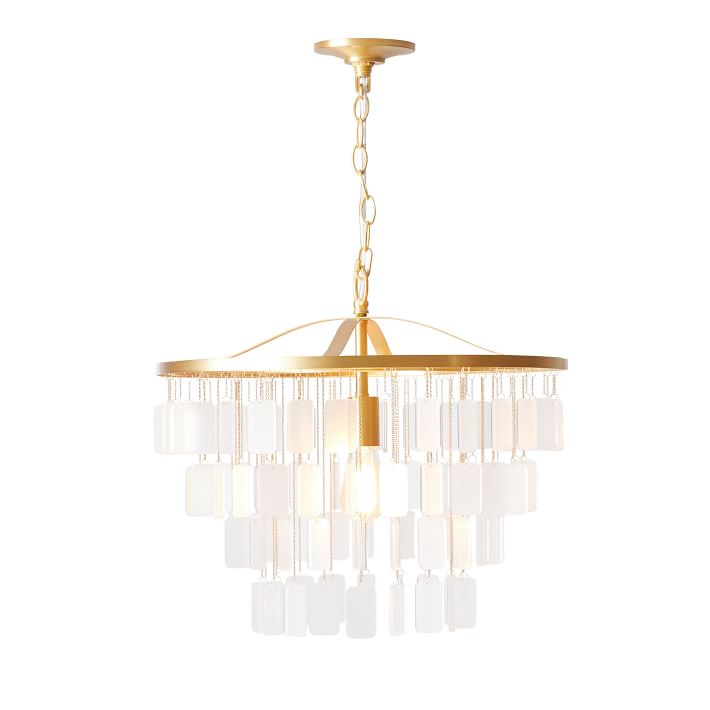 Layered Droplet Chandelier