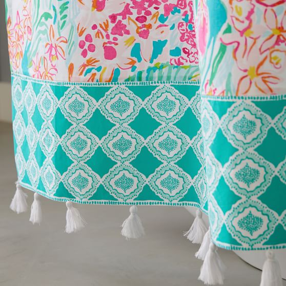 Lilly Pulitzer Orchid Shower Curtain, Pottery Barn Lilly Pulitzer Curtains