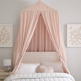 Girls Bed Skirts Amp Canopy Bed Curtains Pottery Barn Teen