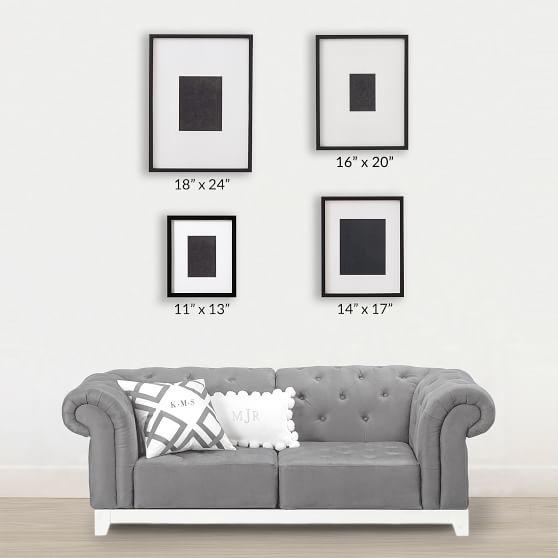 Black Gallery Frames Photo Display Pottery Barn Teen