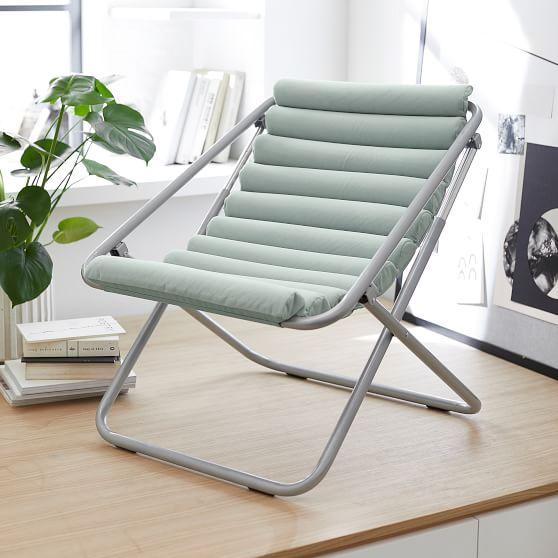 Performance Everyday Velvet Pool Channeled Sling Chair