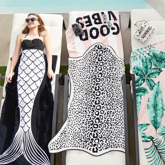 The Emily Amp Meritt Shaped Leopard Teen Beach Towel
