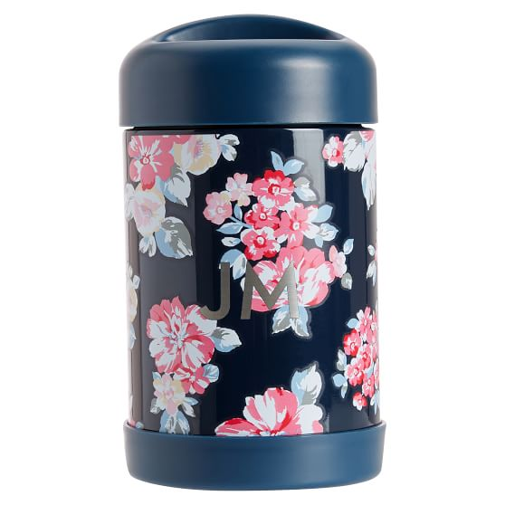 Northfield Navy Bloom Burst 16 Oz Thermos Pottery Barn Teen