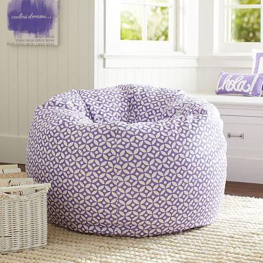 Purple Petal Dot Bean Bag Chair Pottery Barn Teen