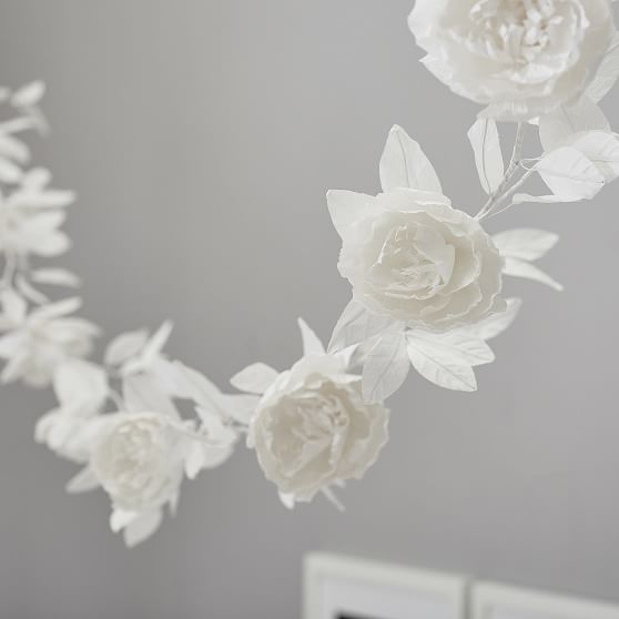 Paper Flower Garland Wall Decor Pottery Barn Teen