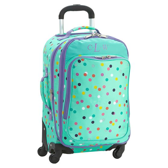 Jet Set Pool Confetti Dot Spinner Teen Luggage Pottery