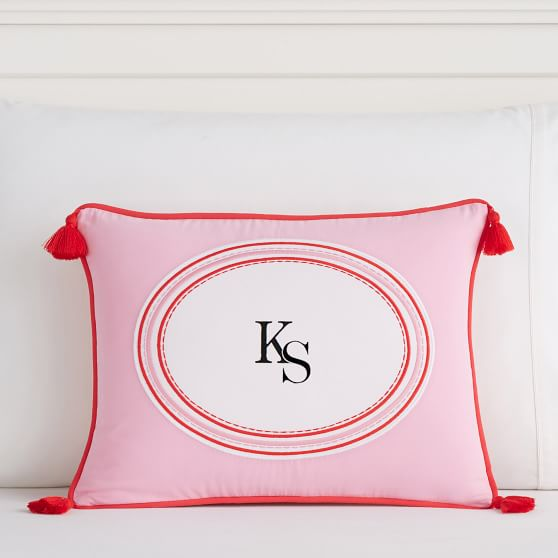 Tassel Monogram Pillow Covers Pottery Barn Teen