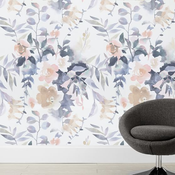 Watercolor Floral Wallpaper Pottery Barn Teen,Anime Black And White Wallpaper Phone