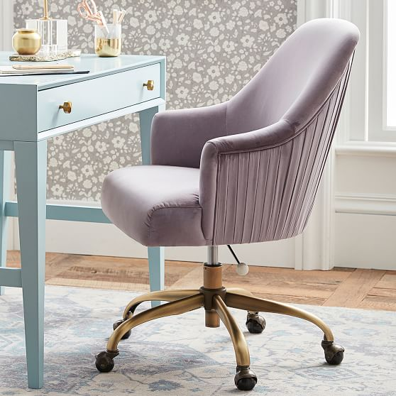 Dusty Lavender Pleated Desk Chair Teen Desk Chair Pottery Barn Teen