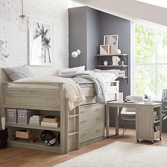 Sleep Study Low Loft Bed Set Pottery Barn Teen,Living Room Arts And Crafts Interiors