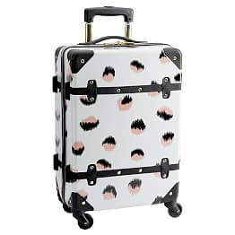 20 Carry On Personalized Red /& Gray Dots and Plaid Suitcase