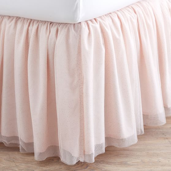 tulle bed skirt twin