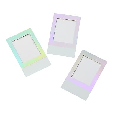 Iridescent Locker Decal Picture Frame Set Of 3 Pottery